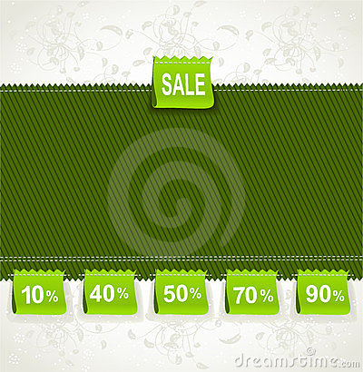 Spring green environment arrival label sale