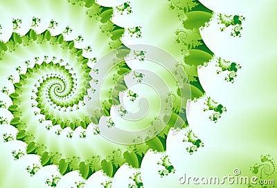 Spring Green Fractal Wave