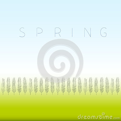 Spring green Vector Illustration