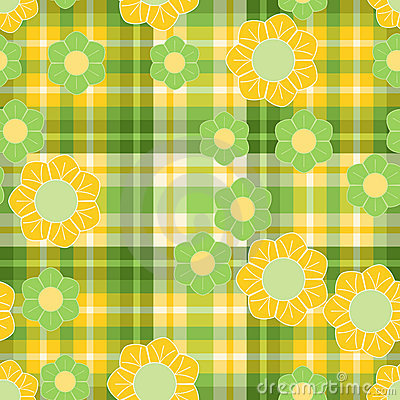 Spring green and yellow pattern