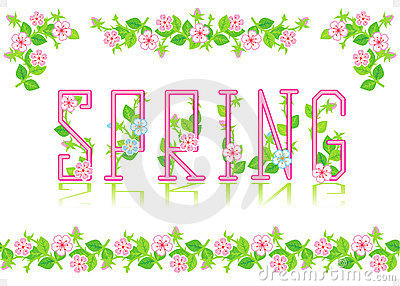 Spring heading, design elements