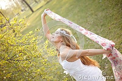 Spring hippie bride