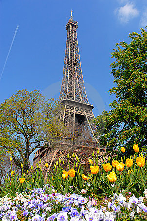 Free Spring In Paris, Eiffel Tower Royalty Free Stock Photography - 2547057