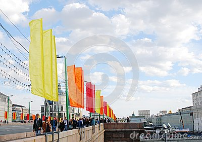 Spring and Labour Day celebration in Russia Editorial Photo