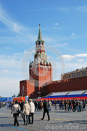Spring and Labour Day celebration in Russia Editorial Stock Image