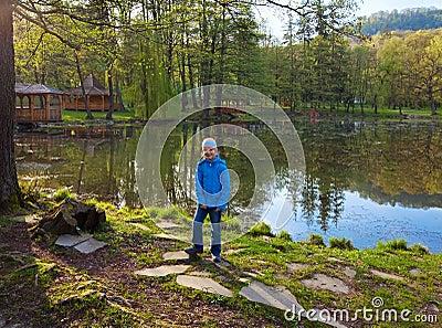 Spring lake in park