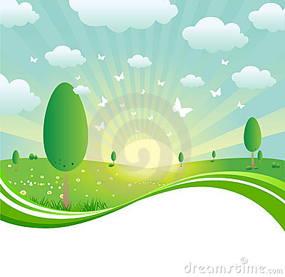 Free Spring Landscape Stock Photography - 14645112