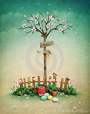 Free Spring Lawn Royalty Free Stock Photo - 66065225