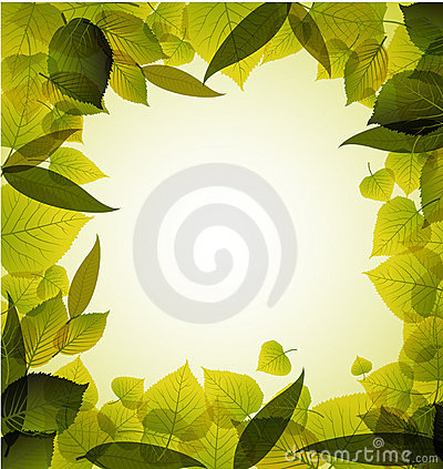 Spring Leafs Abstract Background Royalty Free Stock Photos - Image: 19441018