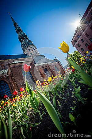 Spring mood in Old Riga