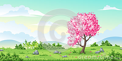 Spring nature background Vector Illustration