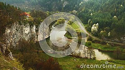 Spring nature panorama