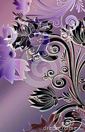 Spring noveau motif