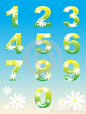 Spring Numbers Stock Images - Image: 24273864