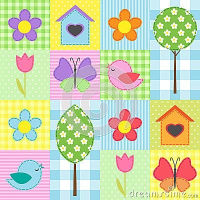 Free Spring Pattern Royalty Free Stock Image - 24466446