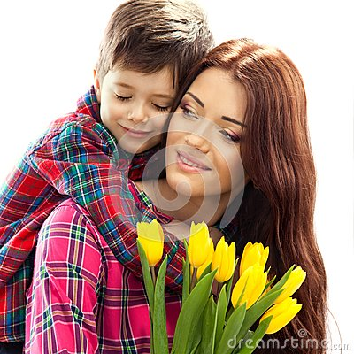 Free Spring Portrait Of Mother And Son On Mother S Day Stock Image - 38208611