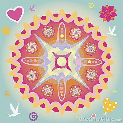 Spring power mandala
