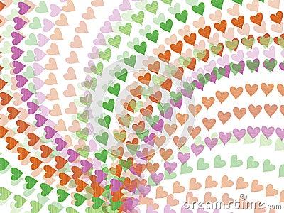 Spring rainbow hearts