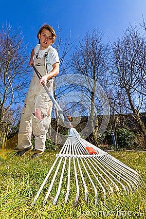 Free Spring Raking Royalty Free Stock Photos - 30208098