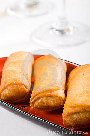 Free Spring Roll Royalty Free Stock Photo - 8591635