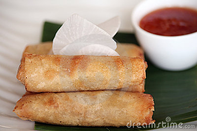 Spring roll asian food