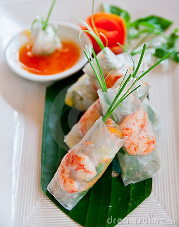 Free Spring Rolls Royalty Free Stock Photo - 21278515