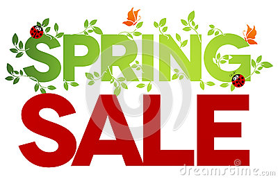 Spring sale isolated