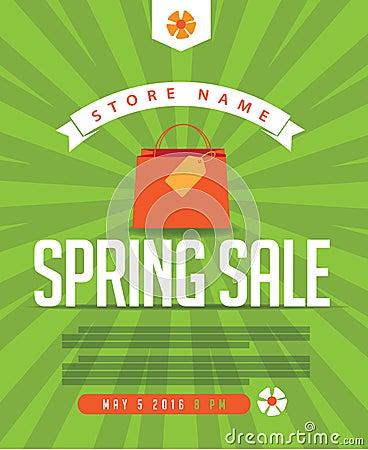 Free Spring Sale Marketing Template. Stock Image - 69519001