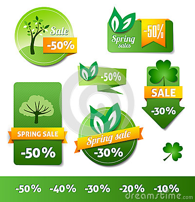Spring Sales Labels