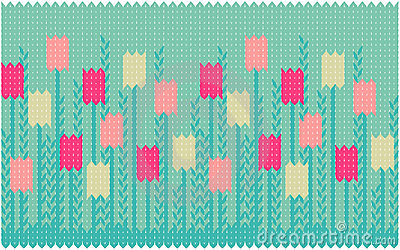 Spring seamless pattern with tulips