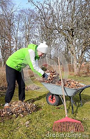 Spring season garden worker