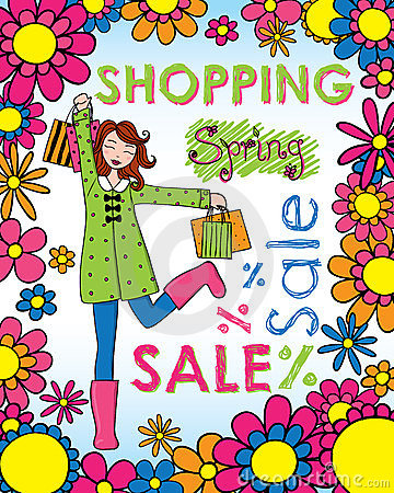 Spring Shopping Woman