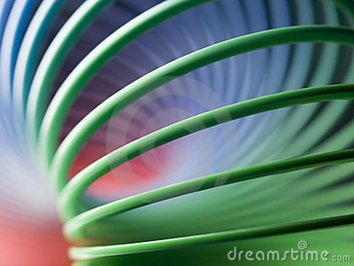 Spring slinky background