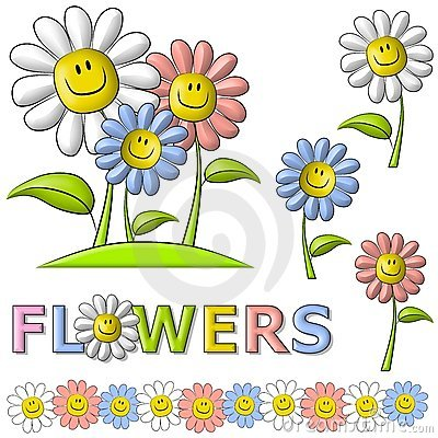 Free Spring Smiley Face Happy Flowers Stock Image - 4106061
