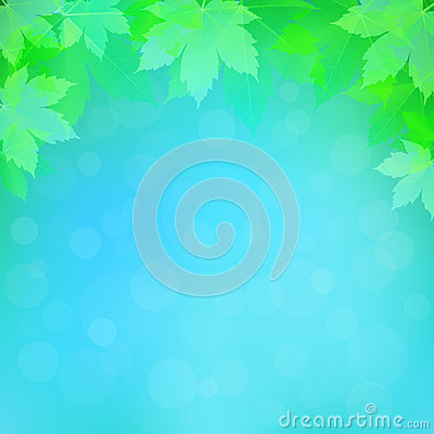 Spring or summer background with bokeh lights Vector Illustration