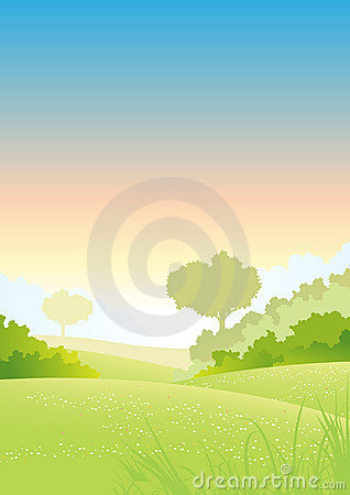 Spring And Summer Country Sunrise