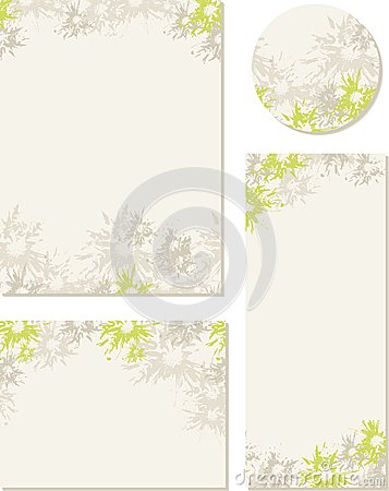 Spring-summer wedding templates (set 2)