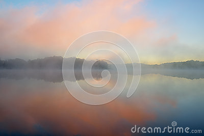 Dawn, Whitford Lake in Fog