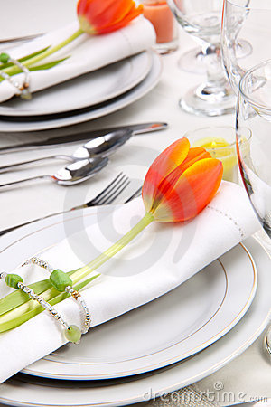 Free Spring Table Settings Royalty Free Stock Photos - 8097758