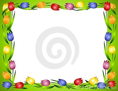 Spring Tulips Flower Frame or Border 2