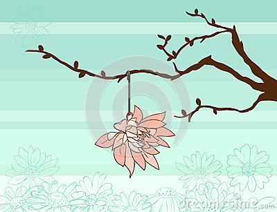 Spring twig and flower