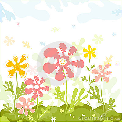 Free Spring Vector Flowers Royalty Free Stock Photography - 2902687