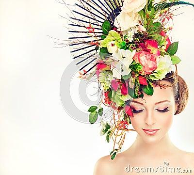 Free Spring Woman. Stock Photos - 56355543