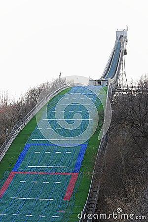 Springboard for jumps on a ski.