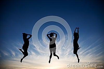 Springen mit Freude