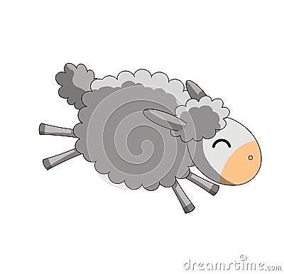 Springende Schafe auf weißem Hintergrund