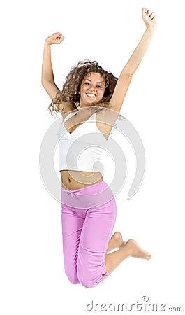 Springende vrouw