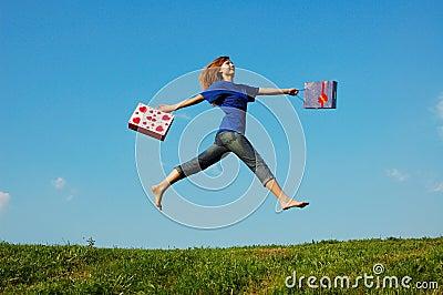 Springendes Mädchen