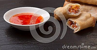 Springroll n sauce