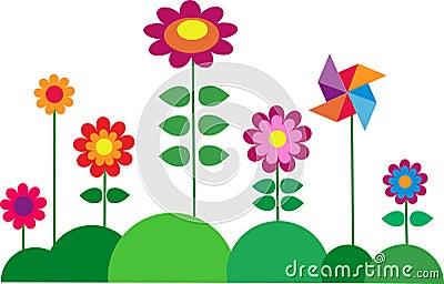 Springtime colorful flower